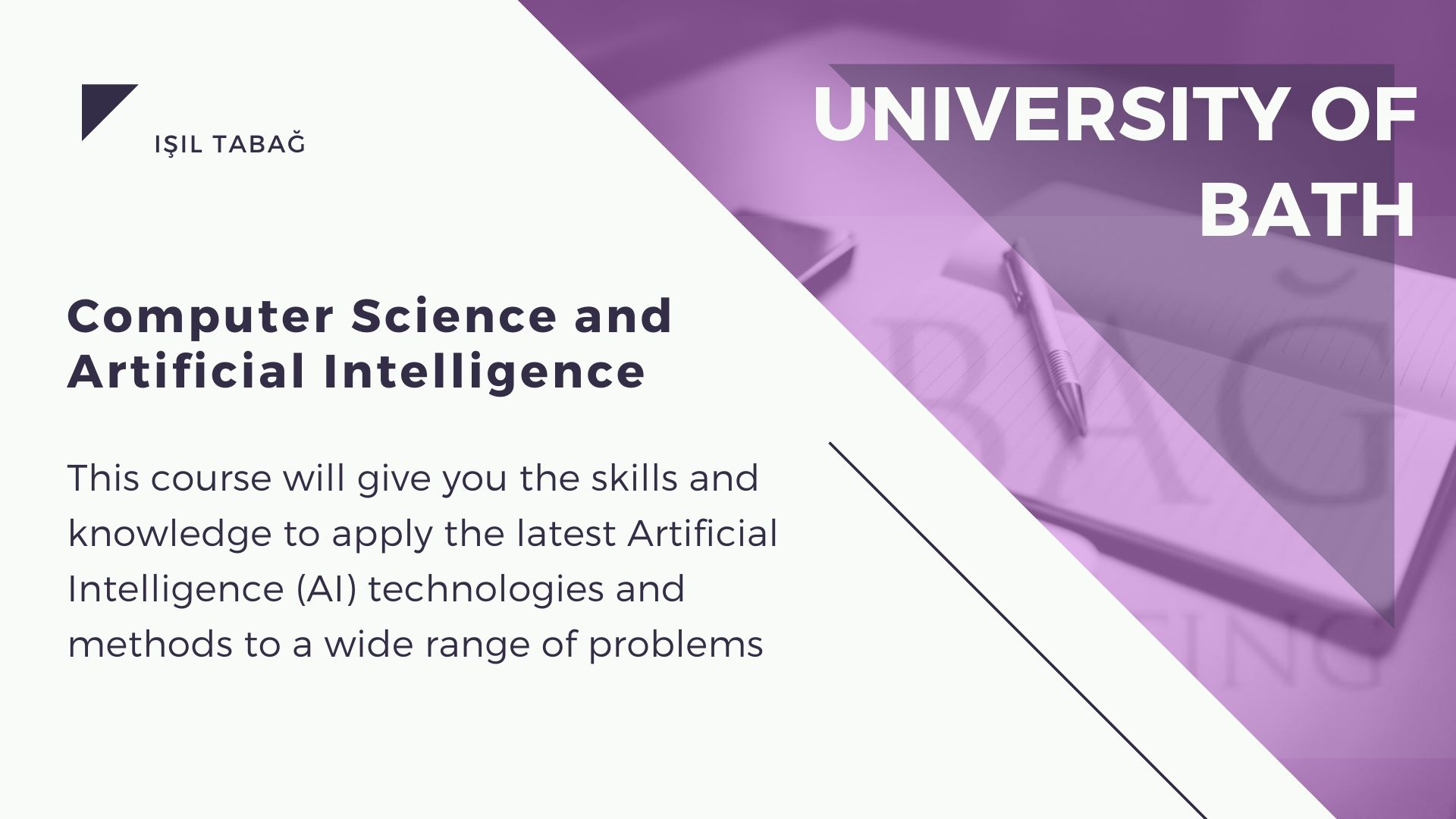 University of Bath computer science artificial intelligence